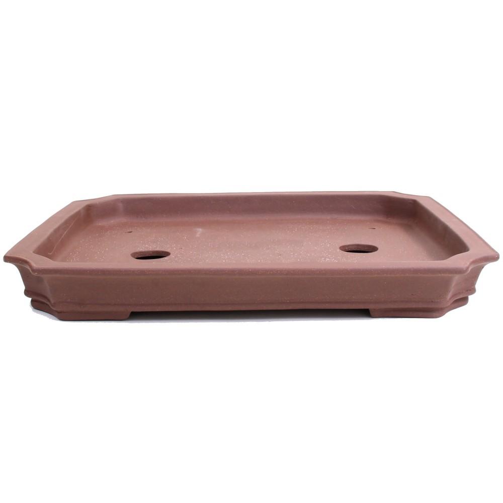 unglasiert Bonsai oval  58 x 40 x 9 cm Schale braun  51900 Waldschale